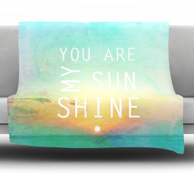 You Are My Sunshine by Alison Coxon 40 Fleece Throw Blanket Size: 40 x 30
