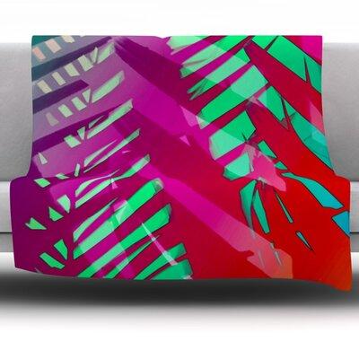 Hot Tropical by Alison Coxon 40 Fleece Throw Blanket Size: 80 x 60