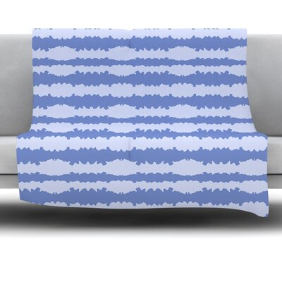 Nautical Breeze Ocean Ripple by Mydeas Fleece Throw Blanket Size: 40 L x 30 W