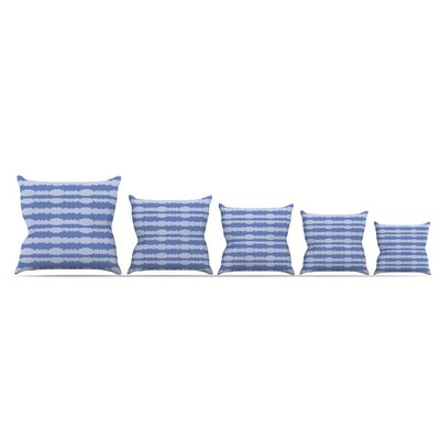 Nautical Breeze Ocean Ripple by Mydeas Throw Pillow Size: 18 x 18