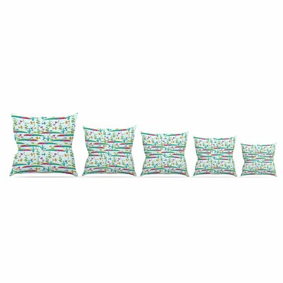 Under Sea by Alisa Drukman Throw Pillow Size: 26 x 26