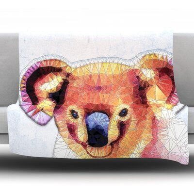 Cute Koala by Ancello Fleece Throw Blanket Size: 60 L x 50 W