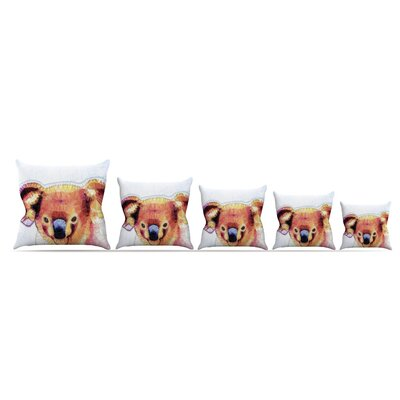 Cute Koala by Ancello Throw Pillow Size: 20 x 20