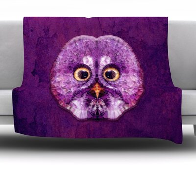 Hoot! by Ancello Fleece Throw Blanket Size: 40 L x 30 W