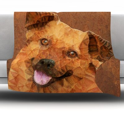 Abstract Puppy by Ancello Fleece Throw Blanket Size: 40 L x 30 W