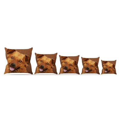 Abstract Puppy by Ancello Throw Pillow Size: 16 x 16