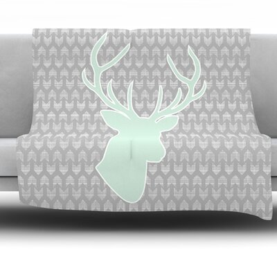 Winter Deer by Pellerina Design Fleece Throw Blanket Size: 60 L x 50 W