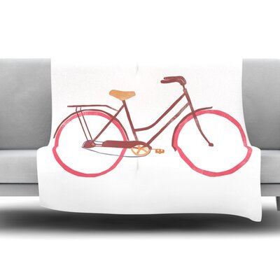 Bike by Alik Arzoumanian Fleece Throw Blanket Size: 80 L x 60 W