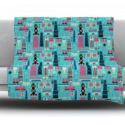My Kind Of Chicago by Allison Beilke Fleece Throw Blanket Size: 40 L x 30 W