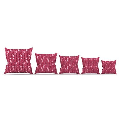 Candy Cane Lane by Allison Beilke Throw Pillow Size: 26 x 26