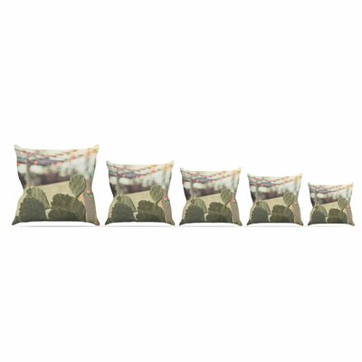 Austin Summer Party by Ann Barnes Throw Pillow Size: 26 x 26