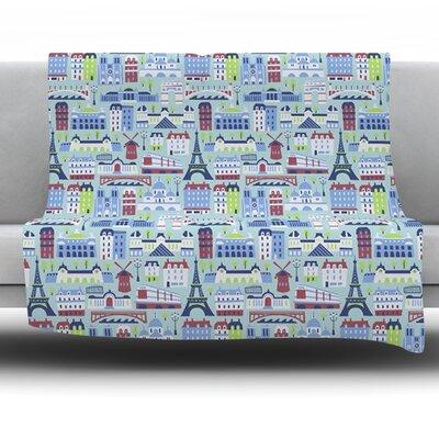 JAdore Paris by Allison Beilke Fleece Throw Blanket Size: 60 x 50