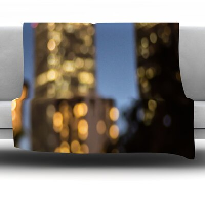 Nola at Night by Ann Barnes Fleece Blanket Size: 80 L x 60 W