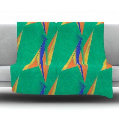 Deco Art by Alison Coxon Fleece Throw Blanket Size: 80 L x 60 W