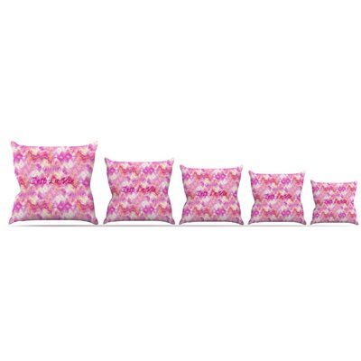 Cest La Vie Throw Pillow Size: 16 H x 16 W x 3 D
