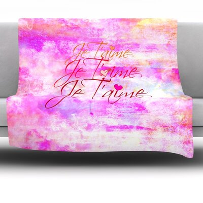 Je Taime II Fleece Throw Blanket Size: 40 L x 30 W