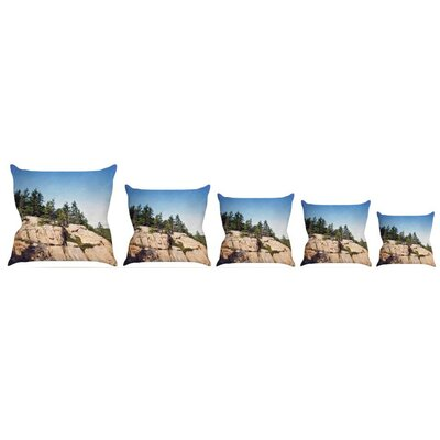 Windswept Cliffs Throw Pillow Size: 20 H x 20 W x 4 D