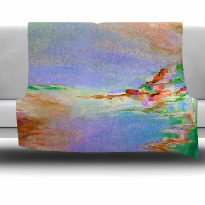 Something About the Sea 3 Fleece Throw Blanket Size: 60 L x 50 W