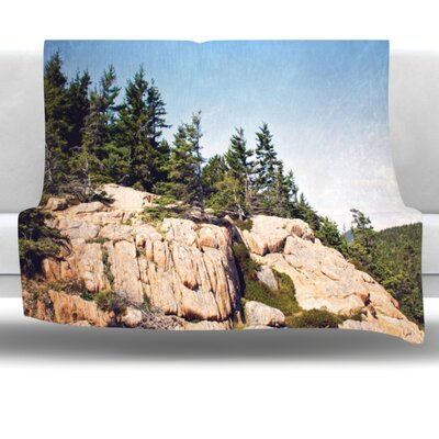 Windswept Cliffs Fleece Throw Blanket Size: 60 L x 50 W
