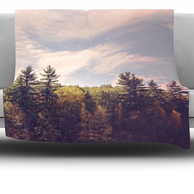 Woods Fleece Throw Blanket Size: 40 L x 30 W