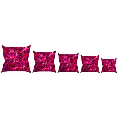 Grunge Flowers IV Throw Pillow Size: 16 H x 16 W x 3 D
