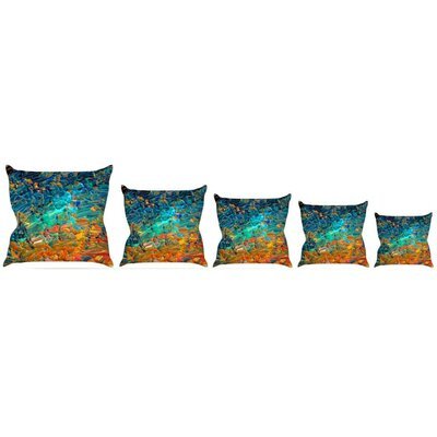 Eternal Tide II Throw Pillow Size: 16 H x 16 W x 3 D