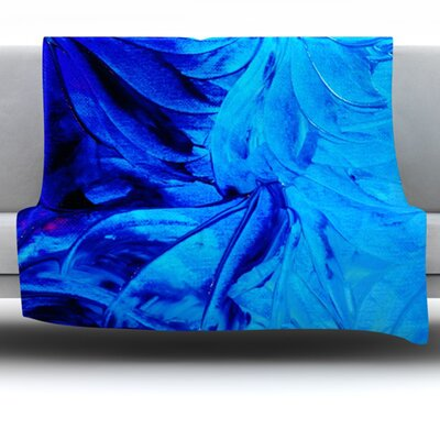 Petal Pinwheels Fleece Throw Blanket Size: 60 L x 50 W