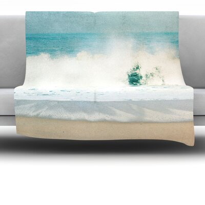 Ocean Fleece Throw Blanket Size: 40 L x 30 W