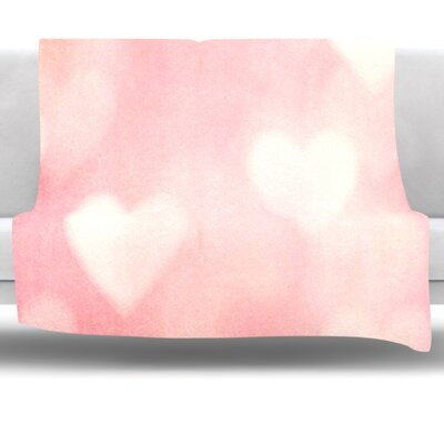 Love is in the Air Fleece Throw Blanket Size: 40 L x 30 W