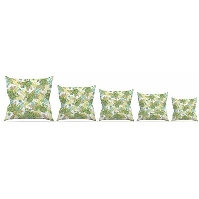 Summer Birds Throw Pillow Size: 18 H x 18 W x 3 D