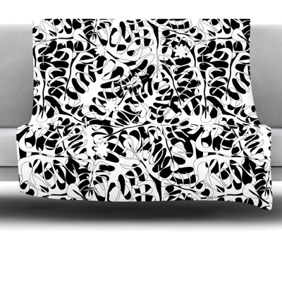 Leaves Fleece Throw Blanket Size: 40 L x 30 W