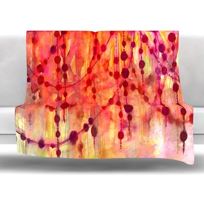 Prismacolor Pearls Fleece Throw Blanket Size: 40 L x 30 W