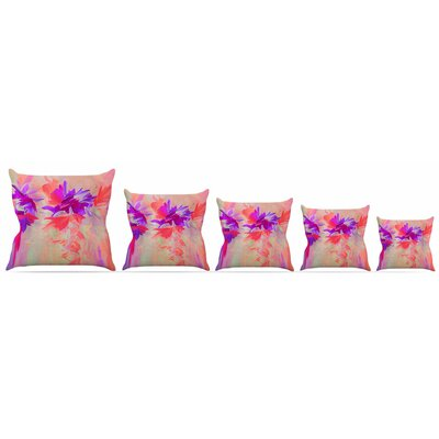 Deconstructing the Garden 3 Throw Pillow Size: 16 H x 16 W x 3 D