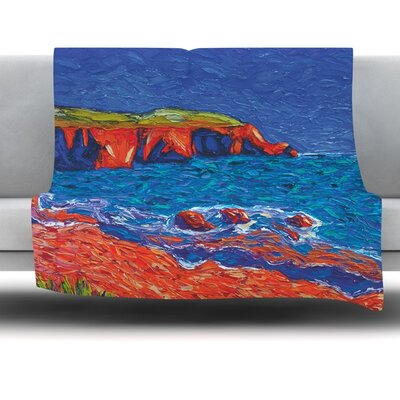 Sea Shore Fleece Throw Blanket Size: 60 L x 50 W