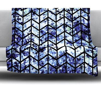 Chevron Wonderland II Fleece Throw Blanket Size: 80 L x 60 W