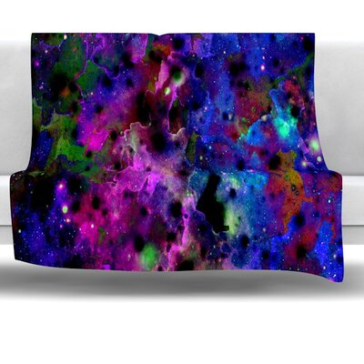 Color Me Floral Fleece Throw Blanket Size: 60 L x 50 W