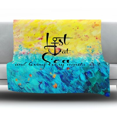Lost at Sea Fleece Throw Blanket Size: 80 L x 60 W