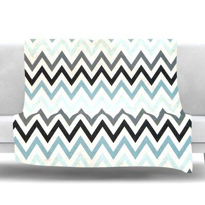 Chevron Fleece Throw Blanket Size: 40 L x 30 W