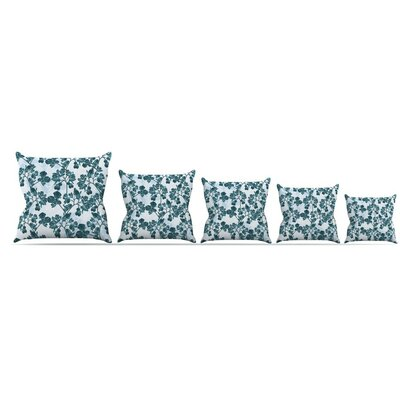 Flowers Throw Pillow Size: 26 H x 26 W x 5 D