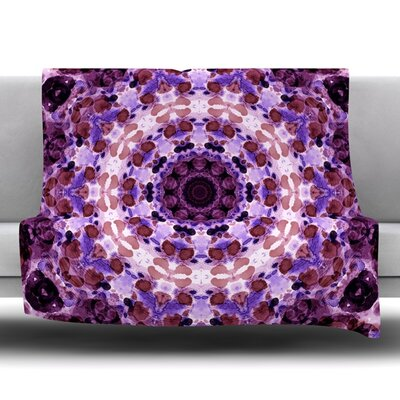 Mandala III Fleece Throw Blanket Size: 80 L x 60 W