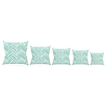 Painted Chevron Throw Pillow Size: 20 H x 20 W x 4 D