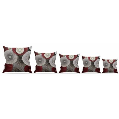 Merlot Throw Pillow Size: 16 H x 16 W x 3 D