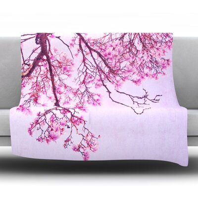 Magnolia Trees Fleece Throw Blanket Size: 40 L x 30 W