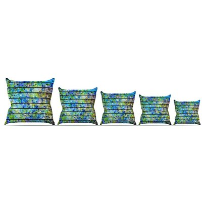 Stripes and Snowflakes Throw Pillow Size: 16 H x 16 W x 3 D