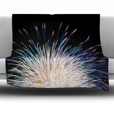 Firework Fleece Throw Blanket Size: 80 L x 60 W