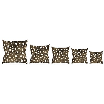 Dots Grunge Throw Pillow Size: 16 H x 16 W x 3 D