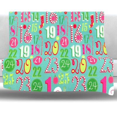 Countdown Fleece Throw Blanket Size: 40 L x 30 W
