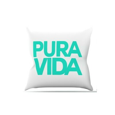 Pura Vida Throw Pillow Size: 20 H x 20 W x 4 D
