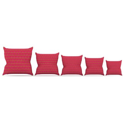 Woven Throw Pillow Size: 26 H x 26 W x 5 D