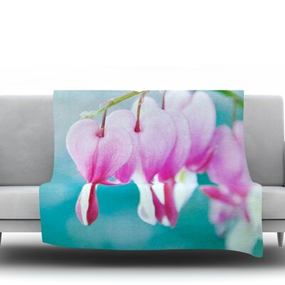 Dicentra Fleece Throw Blanket Size: 60 L x 50 W